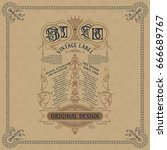 old vintage card with floral... | Shutterstock .eps vector #666689767