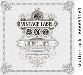 old vintage card with floral... | Shutterstock .eps vector #666691561