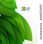 swirl and wave 3d effect... | Shutterstock .eps vector #666692695