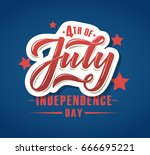 happy 4th of july independence... | Shutterstock .eps vector #666695221