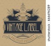 vintage typographic label... | Shutterstock .eps vector #666696289