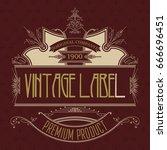 vintage typographic label... | Shutterstock .eps vector #666696451