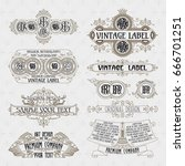 old vintage floral elements  ... | Shutterstock .eps vector #666701251