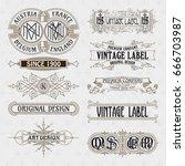 old vintage floral elements  ...   Shutterstock .eps vector #666703987