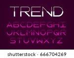 modern thin font  trendy style... | Shutterstock .eps vector #666704269
