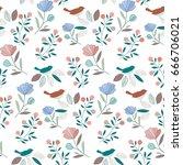 flower pattern | Shutterstock .eps vector #666706021