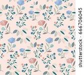 flower pattern | Shutterstock .eps vector #666706045