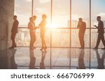 group of business people... | Shutterstock . vector #666706999