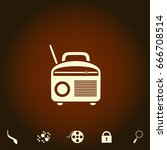 radio simple vector icon....