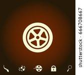 wheel simple vector icon....