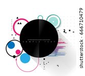 abstract template with clean... | Shutterstock .eps vector #666710479