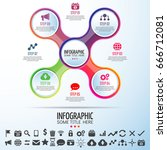 infographics design template...   Shutterstock .eps vector #666712081