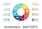 vector circle arrows... | Shutterstock .eps vector #666713371