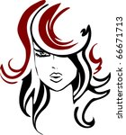 woman hairstyle icon   Shutterstock .eps vector #66671713
