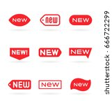 new tag icon  label ang sticker. | Shutterstock .eps vector #666722299