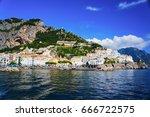 amalfi  salerno  italy | Shutterstock . vector #666722575