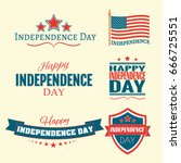 independence day july fourth... | Shutterstock .eps vector #666725551