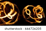 abstract background of flame on ... | Shutterstock . vector #666726205