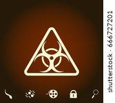 biohazard simple vector icon....