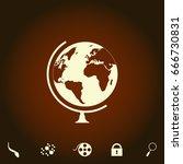 globe simple vector icon....