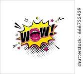 comic speech bubble with... | Shutterstock .eps vector #666732439