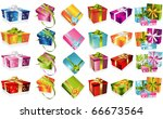 different gifts illustration | Shutterstock .eps vector #66673564