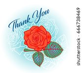 isolated vector thank you card... | Shutterstock .eps vector #666738469