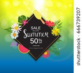 summer sale abstract background ... | Shutterstock .eps vector #666739207