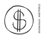 us dollar symbol isolated