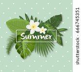 tropical vector illustration... | Shutterstock .eps vector #666745351