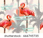 beautiful seamless vector... | Shutterstock .eps vector #666745735