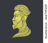 hipster illustration vector... | Shutterstock .eps vector #666749209