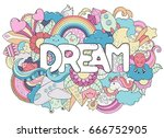 abstract background with text... | Shutterstock .eps vector #666752905