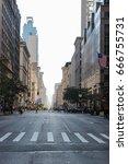 avenue in new york city  early... | Shutterstock . vector #666755731