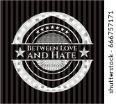 between love and hate silvery... | Shutterstock .eps vector #666757171