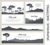 set of beautiful nature... | Shutterstock .eps vector #666759961