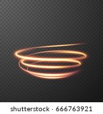 glowing spiral effect on... | Shutterstock .eps vector #666763921