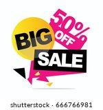big sale banner. vector... | Shutterstock .eps vector #666766981
