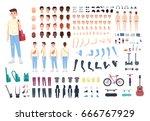 teenager character constructor. ... | Shutterstock .eps vector #666767929