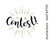 Contest. Beautiful Greeting...