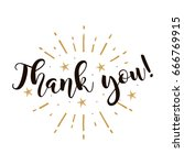 thank you. beautiful greeting... | Shutterstock .eps vector #666769915