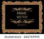 gold photo frame with corner... | Shutterstock .eps vector #666769945