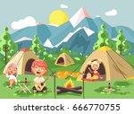 stock vector illustration... | Shutterstock .eps vector #666770755