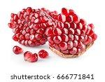 pomegranate. fresh raw peeled... | Shutterstock . vector #666771841