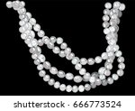 pearl necklace | Shutterstock .eps vector #666773524