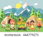 stock vector illustration... | Shutterstock .eps vector #666774271