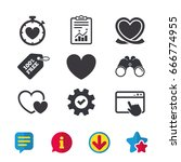 heart ribbon icon. timer...