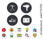 hotel services icons. wi fi ...