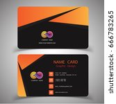 business card design set.... | Shutterstock .eps vector #666783265