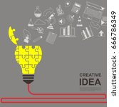 ideas concepts for innovation... | Shutterstock .eps vector #666786349